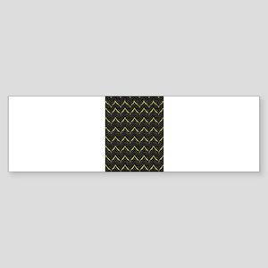 Chic Black Zebra Pattern 4Gigi Bumper Sticker