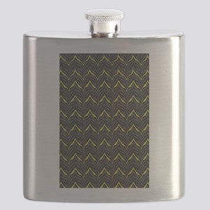 Chic Black Zebra Pattern 4Gigi Flask
