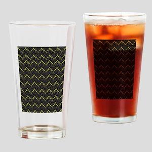 Chic Black Zebra Pattern 4Gigi Drinking Glass