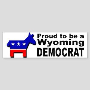 Proud Wyoming Democrat Sticker (Bumper)