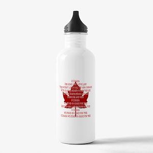 Canada Anthem Souvenir Water Bottle