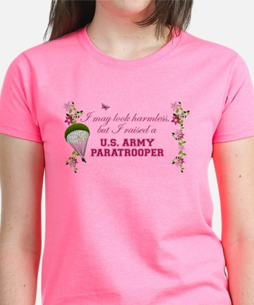 I Raised A Paratrooper Women's Dark T-Shirt