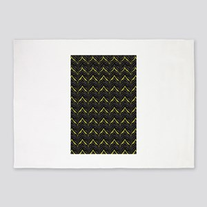 Chic Black Zebra Pattern 4Gigi 5'x7'Area Rug