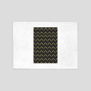 Chic Black Zebra Pattern 4Gigi 5'x7'Area Rug