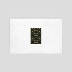 Chic Black Zebra Pattern 4Gigi 4' x 6' Rug