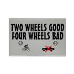 Two Wheels Good Rectangle Magnet (100 pack)