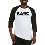 BARC Logo Black and White Baseball Jersey