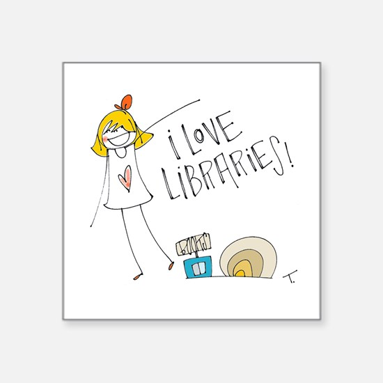 Library Love Sticker