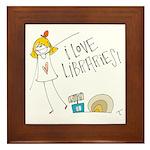 Library Love Framed Tile