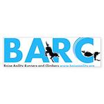 BARC Logo in Blue Bumper Sticker