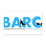 BARC Logo in Blue Rectangle Car Magnet