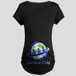 Cares For Kids Maternity Dark T-Shirt