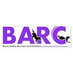 BARC Logo in Purple Bumper Sticker