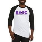 BARC Logo in Purple Baseball Jersey