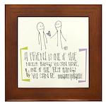 Gift of Friendship Framed Tile
