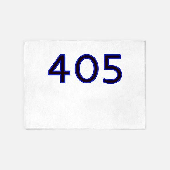405 blue 5'x7'Area Rug