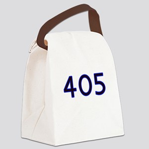 405 blue Canvas Lunch Bag
