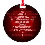 Canada Anthem Souvenir Round Ornament