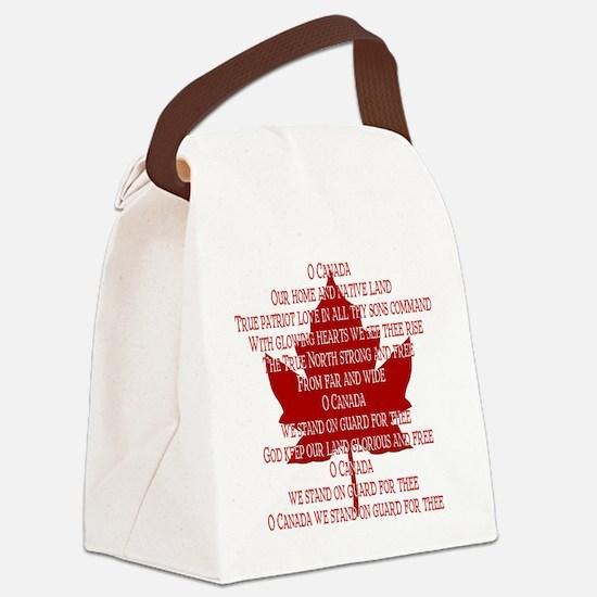 Canada Anthem Souvenir Canvas Lunch Bag