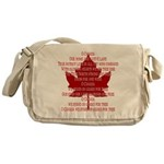 Canada Anthem Souvenir Messenger Bag