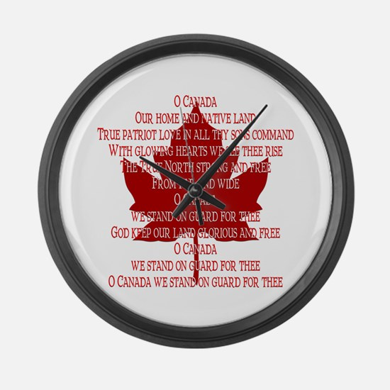 Canada Anthem Souvenir Large Wall Clock