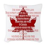 Canada Anthem Souvenir Woven Throw Pillow