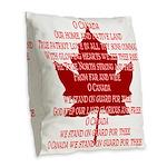 Canada Anthem Souvenir Burlap Throw Pillow