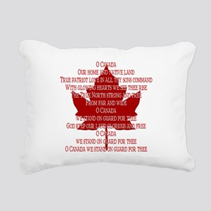 Canada Anthem Souvenir Rectangular Canvas Pillow