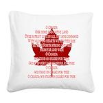 Canada Anthem Souvenir Square Canvas Pillow