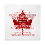 Canada Anthem Souvenir Queen Duvet
