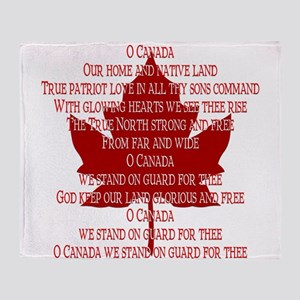 Canada Anthem Souvenir Throw Blanket