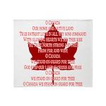 Canada Anthem Souvenir Throw Blanket