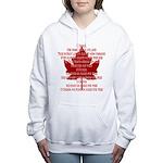 Canada Anthem Souvenir Women's Hooded Sweatshirt