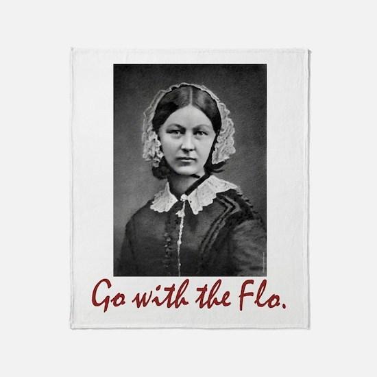 Go With Florence Nightingale! Throw Blanket
