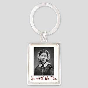Go With Florence Nightingale! Portrait Keychains