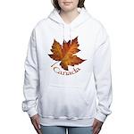 Canada Maple Leaf Souvenir Women's Hooded Sweatshi