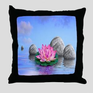 Beautiful Lotus Throw Pillow