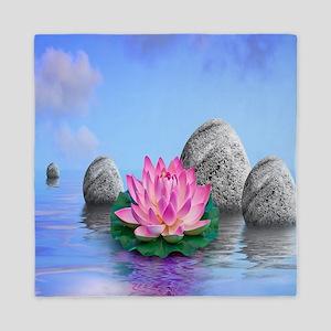 Beautiful Lotus Queen Duvet