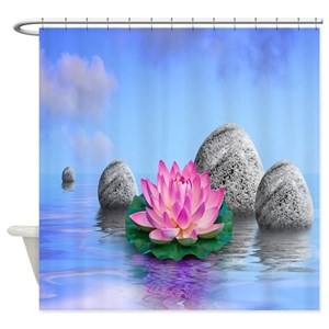 Lotus Shower Curtains