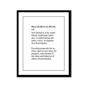 What is a Liberal? Framed Panel Print