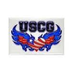 USCG Heart Flag Rectangle Magnet (10 pack)