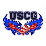 USCG Heart Flag Small Poster