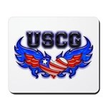 USCG Heart Flag Mousepad