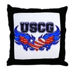 USCG Heart Flag  Throw Pillow
