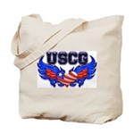 USCG Heart Flag  Tote Bag