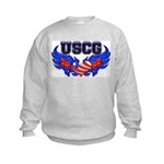 USCG Heart Flag Kids Sweatshirt