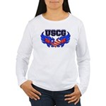 USCG Heart Flag Women's Long Sleeve T-Shirt
