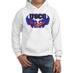 USCG Heart Flag Hooded Sweatshirt