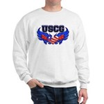 USCG Heart Flag Sweatshirt