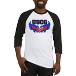 USCG Heart Flag Baseball Jersey